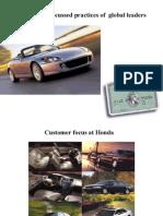 Customer Practices of Global Leaders