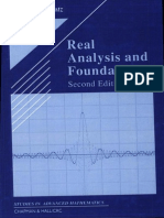 Real Analysis and Foundations, 2nd Edition (Steven G. Krantz)