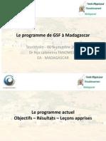 Le programme de GSF à Madagascar