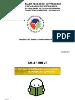 TALLER BREVE Evaluación Formativa