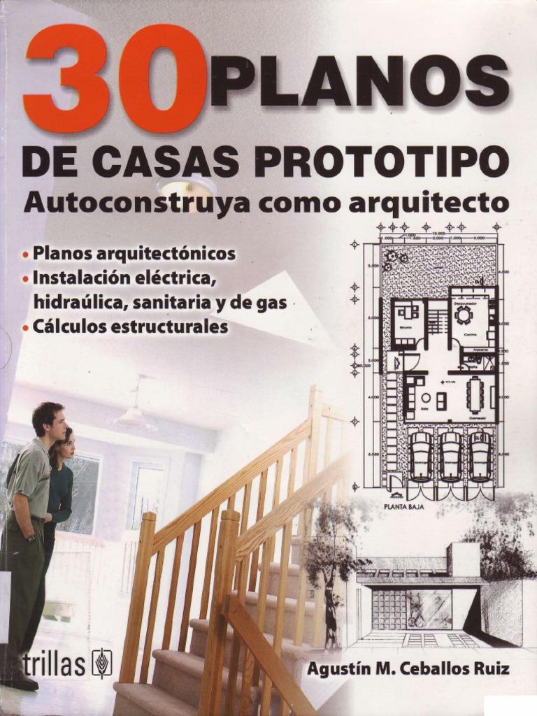 30 planos de casas prototipo for Planos estructurales pdf