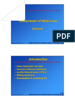 Section 8 - Assessment of Metal Loss - General