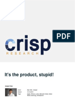 It's the Product, Stupid!