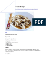 Beech Mushrooms Recipe