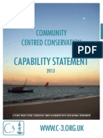 Community Centred Conservation C3 Capability Statement 2013