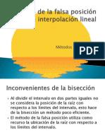 Método de la falsa posición o de interpolación