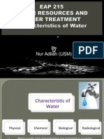 Eap 215_Water Resources and Water Treatment_Characteristics of Water