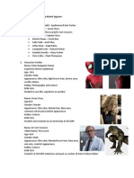 The Amazing Spiderman Character Profiles