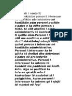 Pyetje -  ProceduraE Procedura ADMINISTRATIVE Administrative