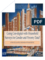 Going Geo-digital with Household Surveys for Gender and Poverty Data?