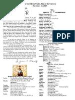 November 24, 2013 Bulletin