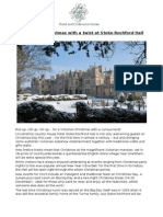 A Victorian Christmas with a twist at Stoke Rochford Hall
