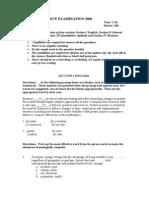 Sample Paper BBA