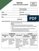 Sample CC Action Plan