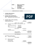 balance sheet with computation