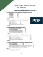 Selectie Subiecte LICENTA SEPT MD 2012