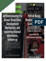 Bond Sharife Makoba CCS Seminar 11 July 2012