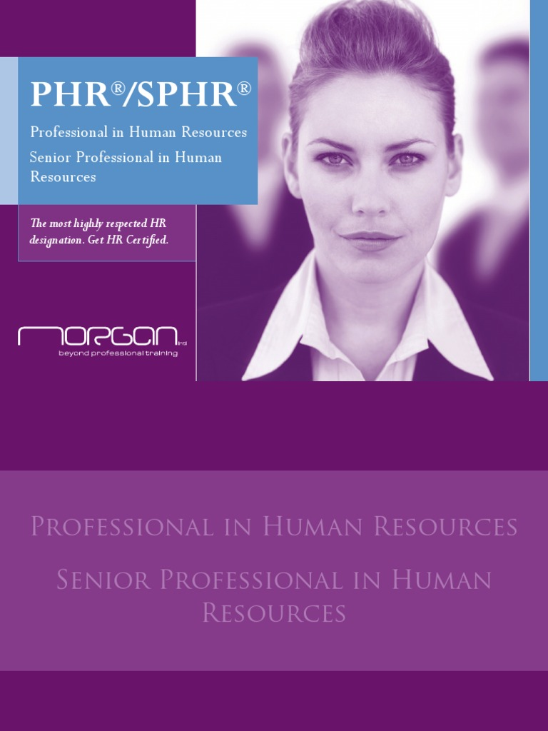 Phr Sphr Brochure Human Resource Management Professional