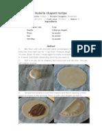 Nutella Chapati Recipe