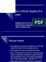 Six Critical Needs of a Man