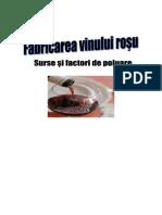 Fabricarea Vinului Rosu - Surse Si Factori de Poluare
