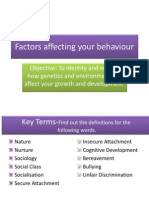 factors affecting your behaviour 1