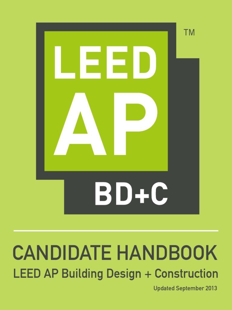 Leed Ap Bdc Candidate Handbook 0 Leadership In Energy And