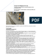 kassab reduz servços de limpeza de rua