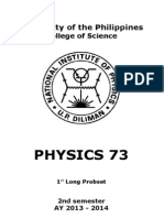 Physics 73 1st Probset 2nd Sem 13-14