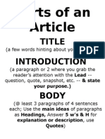 Parts of a Feature Article