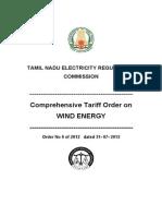 TNERC-Tariff Order for Wind Energy-2012 (1)
