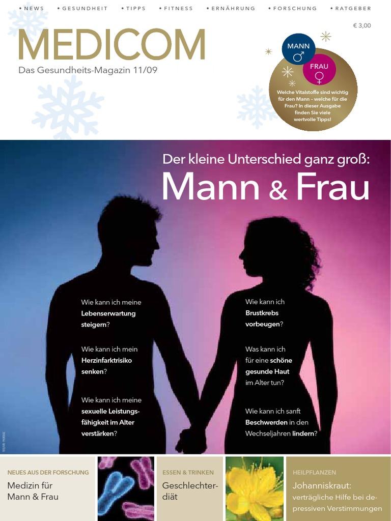 Gesundheitliche Unterschiede zwischen Mann & Frau