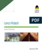 Lanco Infratech - Investor Presentation 09