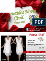 Catalogo Vestidos de Novia Civil