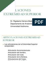 Articulaciones Extremidad Superior