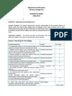 Budget of Work Eng 8 Docx Final