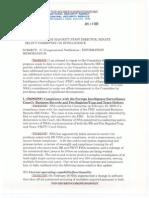 April 10, 2009 NSA notification memorandum to SSCI