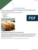 ¿Cómo hacer pan casero con harina leudante_