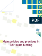 State Funding, Perliminary Findings_BiH