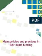 State Funding, Perliminary Findings_BiH