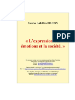 Halbwachs Expression Emotions