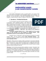 Transf Lorentz Consecinte Ale Trans Lorentz