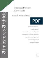 ENSAYO ATMÓSFERAS ARTIFICIALES  MARIBEL ARELLANO MORA 5B