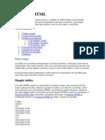 Tablas en HTML