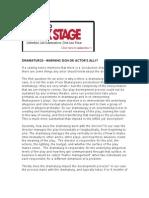 Does Dramaturgy help Shakespearean actors?