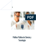 Política Pública de Ciencia y Tecnología SENESCYT