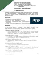 Business Plan Assignment (Entrepreneurship)