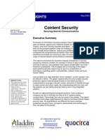 Content security - securing internet communications
