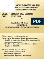 Engineers Bill,2011 Presentation