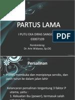 Ppt Partus Lama